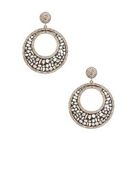 Vanhi | Metallic 14k Gold Plated Sterling Silver Diamond Slice Drop Earrings | Lyst