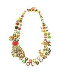 Otazu | Multicolor Swarovski Crystal And Color Splash Statement Necklace | Lyst