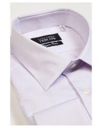 Teri Jon | Blue Egyptian Cotton Spread Collar French Cuffs Modern Classic Fit Dress Shirt for Men | Lyst