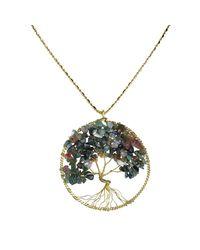 Aeravida | Multicolor Eternal Tree Of Life Brass Long Necklace | Lyst