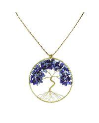Aeravida | Blue Eternal Tree Of Life Brass Long Necklace | Lyst