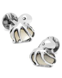 Ox and Bull Trading Co. | Metallic Sterling Octopus On Mother Of Pearl Cufflinks for Men | Lyst