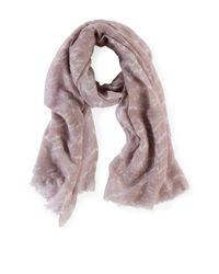 Liebeskind Berlin   Gray Block Print Cotton-silk Scarf   Lyst