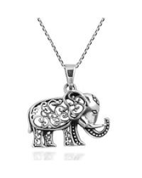 Aeravida | Metallic Royal Thai Swirl Elephant .925 Sterling Silver Necklace | Lyst