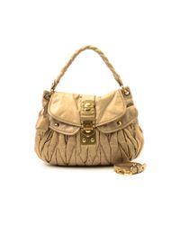 Miu Miu - Natural Pre-owned: Coffer Bag - Lyst