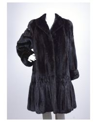 Valentino - Pre-owned: Black Mink Fur Coat - Lyst