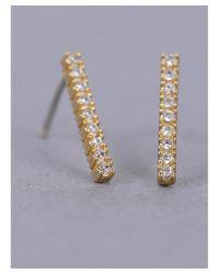 Armitage Avenue - Metallic Pave Dangle Earrings - Lyst