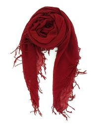 Chan Luu | Red Cashmere And Silk Scarf | Lyst