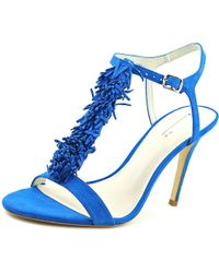 BCBGMAXAZRIA - Blue Eneration Womens Clue Leather Open Toe Special Occasion T-strap Sandals - Lyst