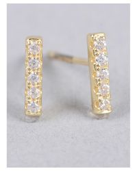 Armitage Avenue | Metallic Cz Bar Post Earrings | Lyst