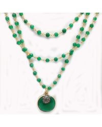 Blue Candy Jewelry | Green Multi Strand Emerald Necklace | Lyst
