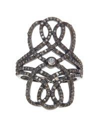 Adornia   Metallic Opal And Champagne Diamond Nina Ring   Lyst