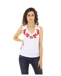 Dolce & Gabbana | White Ladies Tank Top | Lyst