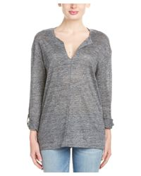 Michael Stars - Gray High-low Hem Top - Lyst