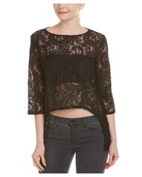 Michael Stars - Black Lace High-low Top - Lyst