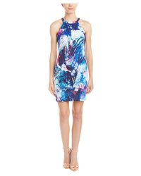 Amanda Uprichard - Blue Portia Scuba Sheath Dress - Lyst