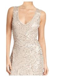 Aidan Mattox - Multicolor Sequin Tulle Sleeveless V-neck Formal Gown - Lyst