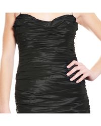 Teri Jon   Decadent Black Ruched Taffeta Strapless Cocktail Evening Dress   Lyst