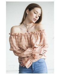 Kristinit - Pink Evangeline Top - Lyst