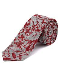W.r.k. - W.r.k Red Paradise Foliole Linen Tie for Men - Lyst
