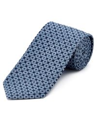 Ermenegildo Zegna | Blue Geometric Diamond-lattice Print Tie for Men | Lyst
