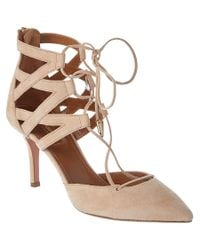 Aquazzura | Brown Belgravia 75 Suede Pump | Lyst
