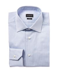 Ermenegildo Zegna - Blue Trofeo Dress Shirt for Men - Lyst