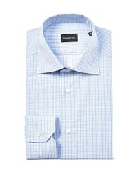 Ermenegildo Zegna - Blue Ermengildo Zegna Classic Dress Shirt for Men - Lyst