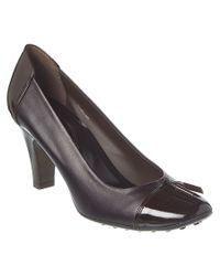 Tod's - Brown Leather Tassel Pump - Lyst