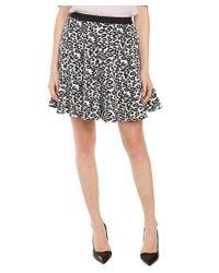 Rebecca Taylor | Black & White Leopard Flip Skirt | Lyst