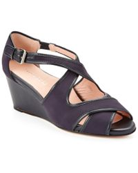 Taryn Rose - Blue Kinza Wedge Sandal - Lyst