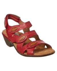 Cobb Hill | Red Verona Virginia Leather Sandal | Lyst