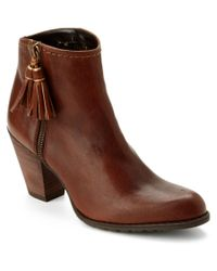 Stuart Weitzman - Brown Prancing Leather Ankle Boot - Lyst