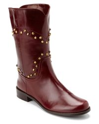 Stuart Weitzman | Purple Taxlaw Studded Leather Boot | Lyst