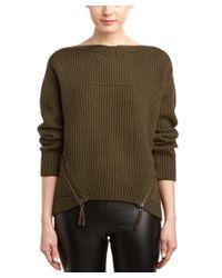 L.A.M.B. | Green Wool-blend Ribbed Sweater | Lyst