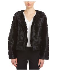 Love Token | Black Daisy Genuine Dyed Rabbit Fur Trim Vest | Lyst