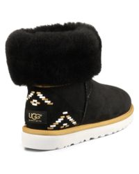 UGG | Black Classic Short Rustic Weave Twinface Sheepskin Boot | Lyst