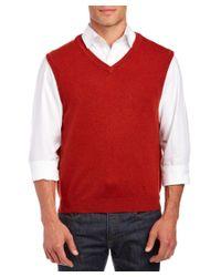 Forte - Red Cashmere Pullover Vest for Men - Lyst