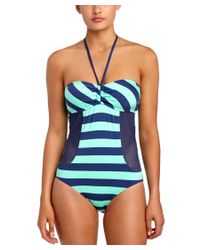 Splendid | Blue Marcel Stripe One-piece | Lyst