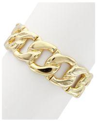 Sparkling Sage | Metallic 14k Plated Chain Link Stretch Bracelet | Lyst