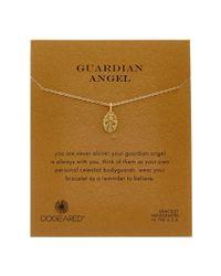 Dogeared - Metallic 14k Over Silver Guardian Angel Bracelet - Lyst