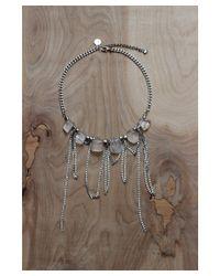 Love Leather - Metallic Liquid Disco Necklace - Lyst