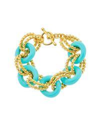 Kenneth Jay Lane | Multicolor Toggle Bracelet | Lyst