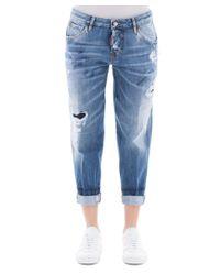DSquared² - Women's Blue Cotton Jeans - Lyst