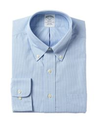 Brooks Brothers - Blue Non-iron Slim Dress Shirt for Men - Lyst