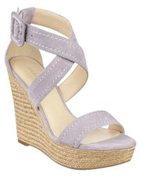 Marc Fisher - Purple Haely Suede Wedge Espadrille - Lyst