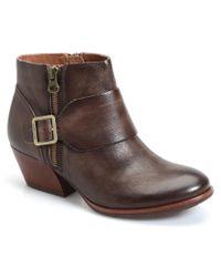 Kork-Ease | Brown Kork-ease Isa Leather Bootie | Lyst