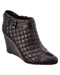 Vince Camuto - Black Loore Quilted Wedge Boots - Lyst