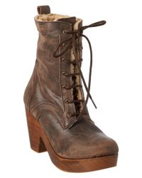Freebird by Steven | Brown Fiona Leather Boot | Lyst