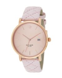 kate spade new york - Pink Women's Metro Grand Watch - Lyst